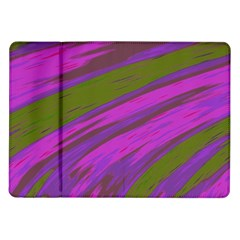 Swish Purple Green Samsung Galaxy Tab 10 1  P7500 Flip Case by BrightVibesDesign