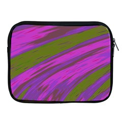Swish Purple Green Apple Ipad 2/3/4 Zipper Cases by BrightVibesDesign