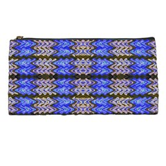 Pattern Tile Blue White Green Pencil Cases by BrightVibesDesign
