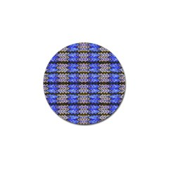 Pattern Tile Blue White Green Golf Ball Marker (4 Pack) by BrightVibesDesign