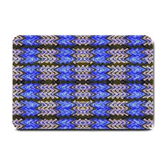 Pattern Tile Blue White Green Small Doormat  by BrightVibesDesign