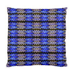 Pattern Tile Blue White Green Standard Cushion Case (two Sides) by BrightVibesDesign