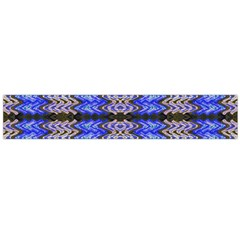 Pattern Tile Blue White Green Flano Scarf (large)  by BrightVibesDesign