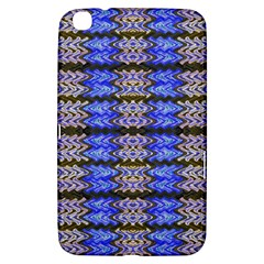 Pattern Tile Blue White Green Samsung Galaxy Tab 3 (8 ) T3100 Hardshell Case  by BrightVibesDesign