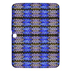 Pattern Tile Blue White Green Samsung Galaxy Tab 3 (10 1 ) P5200 Hardshell Case  by BrightVibesDesign