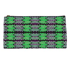 Pattern Tile Green Purple Pencil Cases by BrightVibesDesign