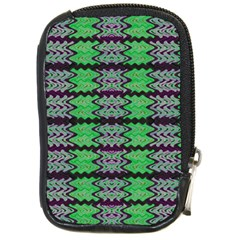 Pattern Tile Green Purple Compact Camera Cases by BrightVibesDesign