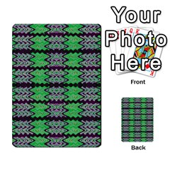 Pattern Tile Green Purple Multi Purpose Cards (rectangle)  by BrightVibesDesign