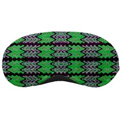 Pattern Tile Green Purple Sleeping Masks by BrightVibesDesign