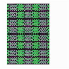 Pattern Tile Green Purple Large Garden Flag (two Sides) by BrightVibesDesign