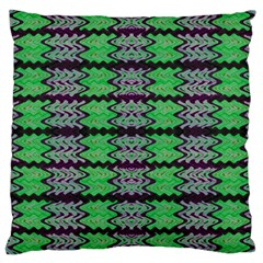 Pattern Tile Green Purple Large Cushion Case (two Sides) by BrightVibesDesign