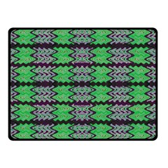 Pattern Tile Green Purple Double Sided Fleece Blanket (small)  by BrightVibesDesign