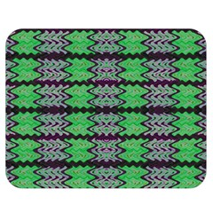 Pattern Tile Green Purple Double Sided Flano Blanket (medium)  by BrightVibesDesign