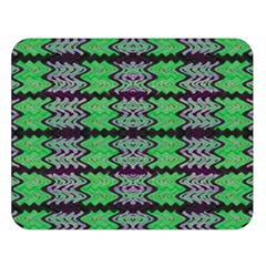 Pattern Tile Green Purple Double Sided Flano Blanket (large)