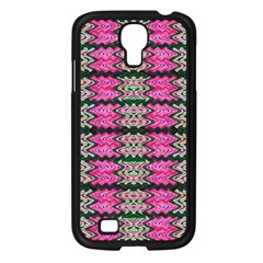 Pattern Tile Pink Green White Samsung Galaxy S4 I9500/ I9505 Case (black) by BrightVibesDesign