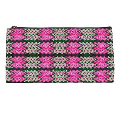 Pattern Tile Pink Green White Pencil Cases by BrightVibesDesign