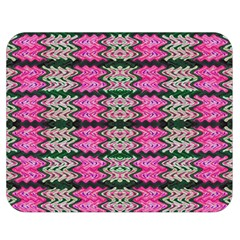 Pattern Tile Pink Green White Double Sided Flano Blanket (medium)  by BrightVibesDesign