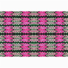 Pattern Tile Pink Green White Collage Prints by BrightVibesDesign