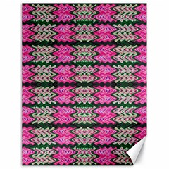 Pattern Tile Pink Green White Canvas 18  X 24   by BrightVibesDesign