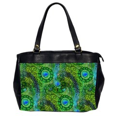 Emerald Boho Abstract Office Handbags (2 Sides)  by KirstenStar