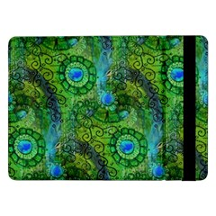 Emerald Boho Abstract Samsung Galaxy Tab Pro 12 2  Flip Case by KirstenStar