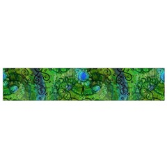 Emerald Boho Abstract Flano Scarf (small) by KirstenStar