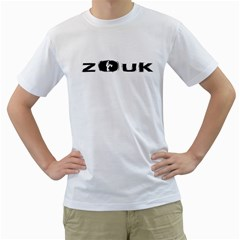 Licence To Zouk Men s T Shirt (white) (two Sided) by LetsDanceHaveFun
