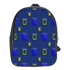 3d Rectangles                                                                      			school Bag (large) by LalyLauraFLM
