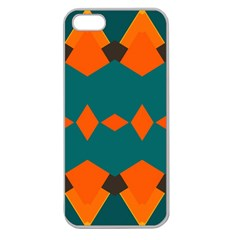 Rhombus And Other Shapes                                                                      			apple Seamless Iphone 5 Case (clear) by LalyLauraFLM