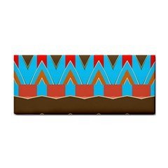 Blue Brown Chevrons                                                                       			hand Towel by LalyLauraFLM