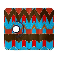 Blue Brown Chevrons                                                                       			samsung Galaxy S Iii Flip 360 Case by LalyLauraFLM