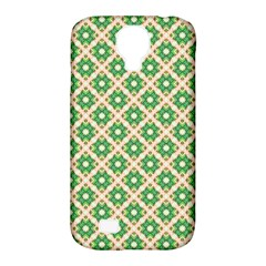 Crisscross Pastel Green Beige Samsung Galaxy S4 Classic Hardshell Case (pc+silicone) by BrightVibesDesign