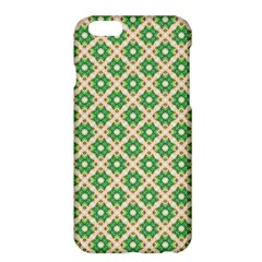 Crisscross Pastel Green Beige Apple Iphone 6 Plus/6s Plus Hardshell Case by BrightVibesDesign