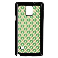 Crisscross Pastel Green Beige Samsung Galaxy Note 4 Case (black) by BrightVibesDesign