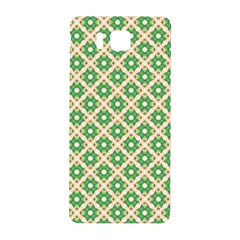 Crisscross Pastel Green Beige Samsung Galaxy Alpha Hardshell Back Case by BrightVibesDesign