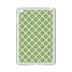 Crisscross Pastel Green Beige Ipad Mini 2 Enamel Coated Cases by BrightVibesDesign
