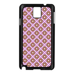 Crisscross Pastel Pink Yellow Samsung Galaxy Note 3 N9005 Case (black) by BrightVibesDesign