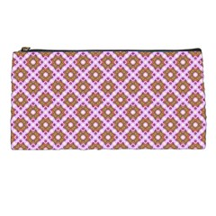 Crisscross Pastel Pink Yellow Pencil Cases by BrightVibesDesign