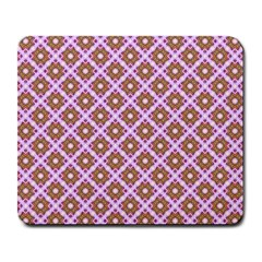 Crisscross Pastel Pink Yellow Large Mousepads by BrightVibesDesign