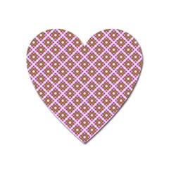 Crisscross Pastel Pink Yellow Heart Magnet by BrightVibesDesign