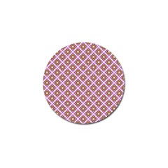 Crisscross Pastel Pink Yellow Golf Ball Marker (10 Pack) by BrightVibesDesign