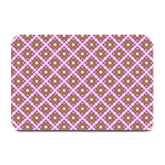 Crisscross Pastel Pink Yellow Plate Mats by BrightVibesDesign