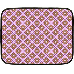 Crisscross Pastel Pink Yellow Fleece Blanket (mini) by BrightVibesDesign