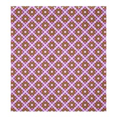 Crisscross Pastel Pink Yellow Shower Curtain 66  X 72  (large)  by BrightVibesDesign