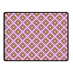 Crisscross Pastel Pink Yellow Fleece Blanket (small) by BrightVibesDesign