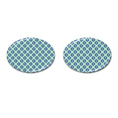 Crisscross Pastel Turquoise Blue Cufflinks (oval) by BrightVibesDesign