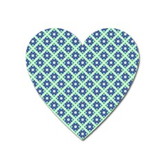 Crisscross Pastel Turquoise Blue Heart Magnet by BrightVibesDesign