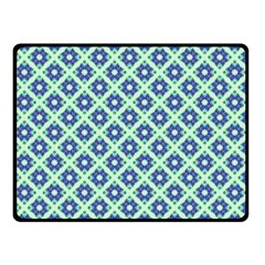 Crisscross Pastel Turquoise Blue Double Sided Fleece Blanket (small)  by BrightVibesDesign