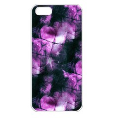 Celestial Purple  Apple Iphone 5 Seamless Case (white) by KirstenStar