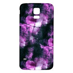 Celestial Purple  Samsung Galaxy S5 Back Case (white) by KirstenStar